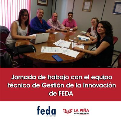 Visita a La Piña del equipo técnico de Gestión de la Innovación de FEDA
